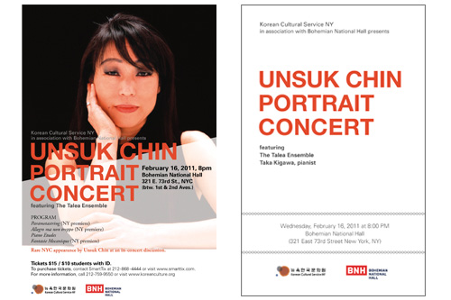 Poster, Program Book - Unsuk Chin Portrait Concert